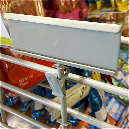 Strip Merchandiser C-Channel Label Holder