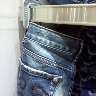 C-Clamp Displays Jeans