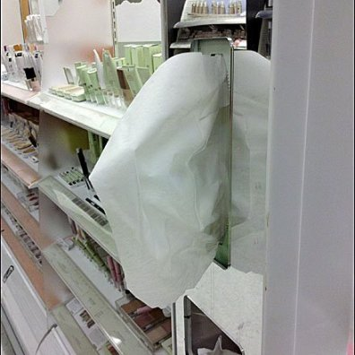Tissue Dispenser Fixture In Cosmetics