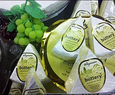 Artificial Grapes As Merchandising Fixture