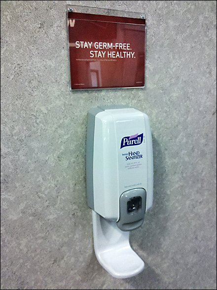 Purell Catch Tray Built-in