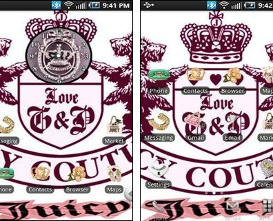 Juicy Couture Wallpaper Theme