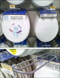 Toilet Seat Loop Scan Hook