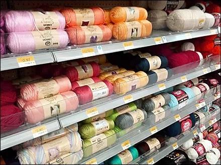 Yarn In Low Acrylic Divider Bins