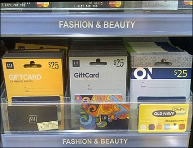 Gift Card Shelf Unit