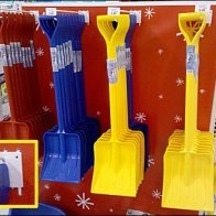 Snow Shovels Merchandised by Scan Hook as Kid's Toys