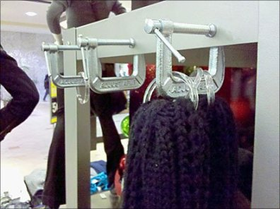 C-clamp Shelf Edge Scarf Holder