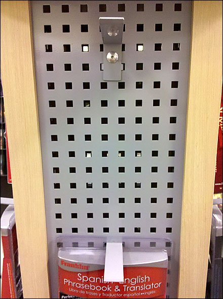 Square Hole Metal Display Surface for Hooks