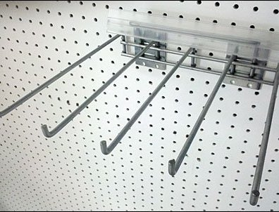 HD pegboard Multi-Hook with Label Strip