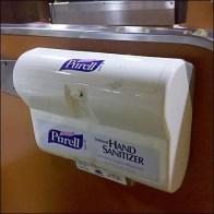 Hand Sanitizer at Cashwrap Detail