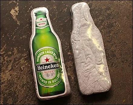 Custom Heineken Bottle T-Shirt Packaging