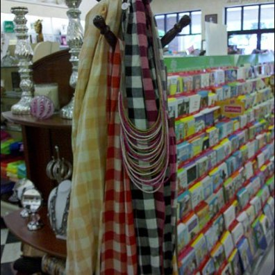 Scarves Merchandised on Coat Tree