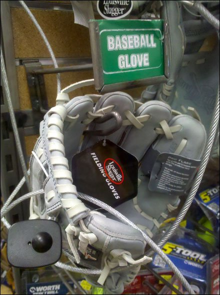 Baseball Glove Scan Hook Detail