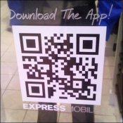 Transparent QR Window Decal Promotion