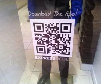 QR Code Window Decal