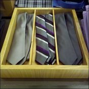 Natural Wood Necktie Tray