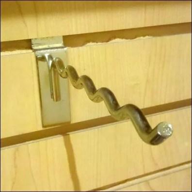 Undulating Single Prong Hook Detail