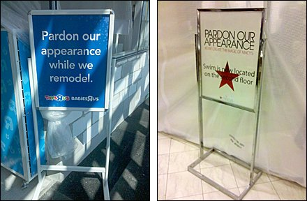 Retail Construction Signs Compared