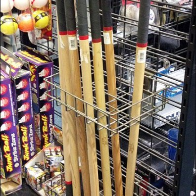 Stickball Bat Rack