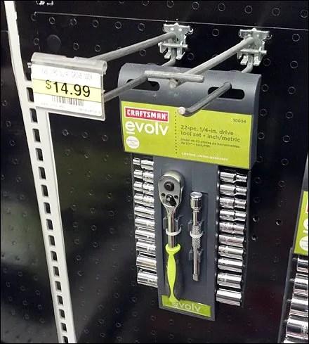 Sears Socket Set Straight-Entry Hook