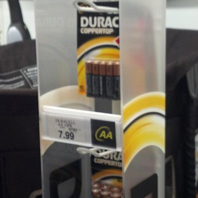 Duracell Guarded Strip Merchandiser