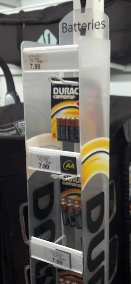 Duracell Guarded Strip Merchandiser