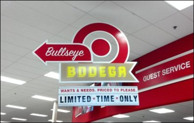 Bodega Department Target Sign