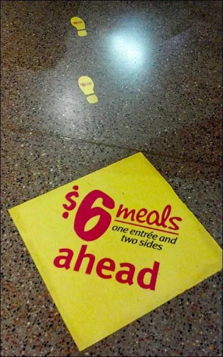 Floor Graphic Footsteps