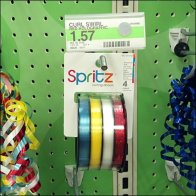 Ribbon Spools on Hooks CloseUp