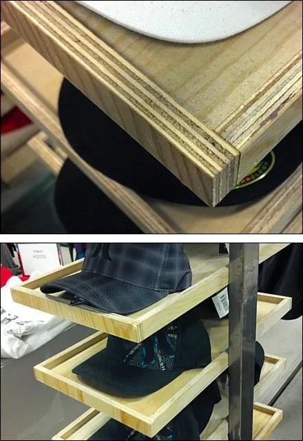 Rough Cut Wood Hat Tray