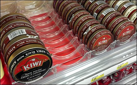 Shoe Polish Shelf-Managed in Acrylic