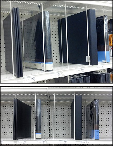 Vertical Wire Strut As Shelf Divider