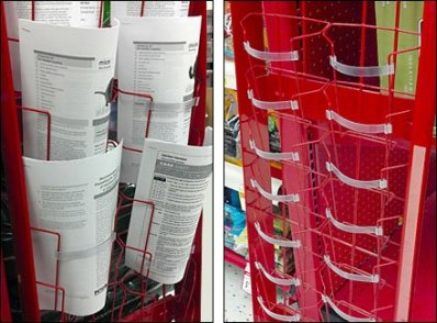 Hybrid Literature Rack Composite