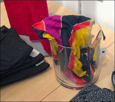Scarves in a Glass Bucket Main
