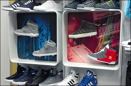 Dual Plastic Shadowboxes Sell Shoes