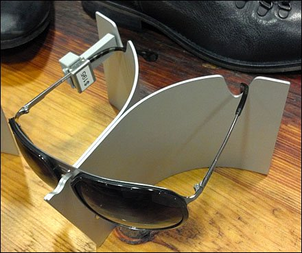 Swept Wing Sunglass Stand Closeup