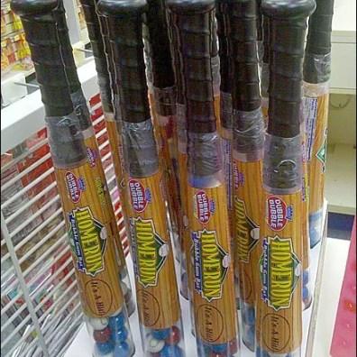 Baseball Bat Candy POP Corrugated Display