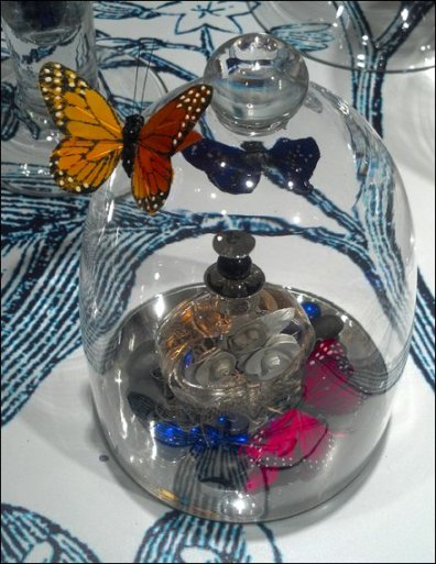 Butterflies in Bell Jars Closeup