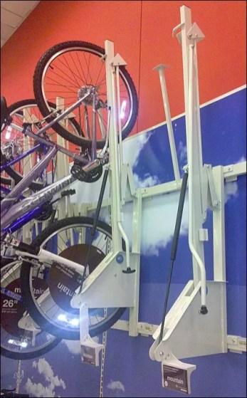 Retail Bicycle Hoist Closeup