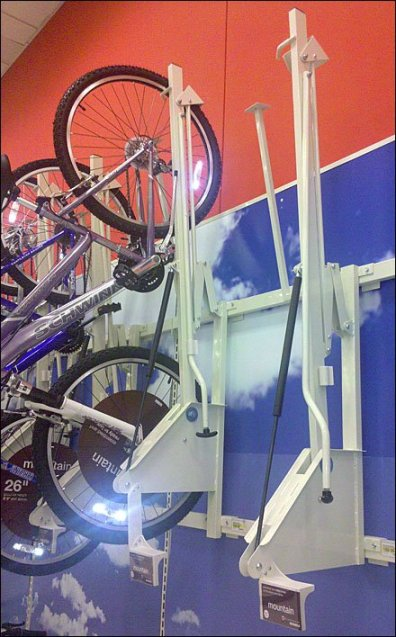 Retail Bicycle Hoist Closeup