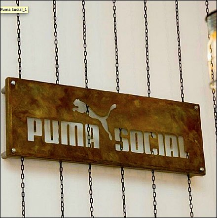 Puma Social Club Rust Finish Sign