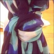 Hand-painted Headform Scarf Tie