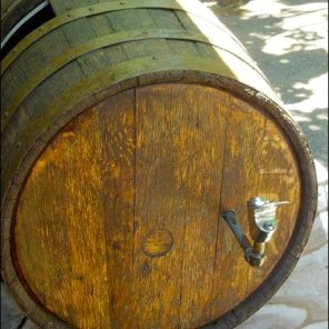 Wine Barrel as Fountain Main