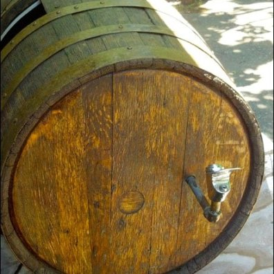 Wine Barrel as Fountain Main
