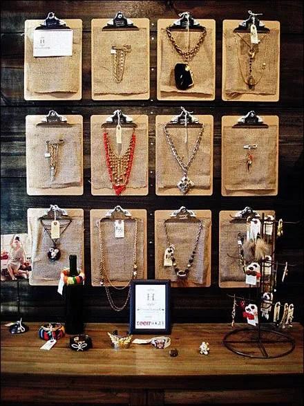 Clipboards as Jewelry Backer