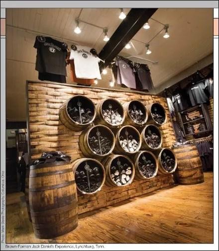 Jack Daniel's Barrels as Decor