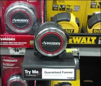 Measuring Tape Try-Me-First Shelf-Edge Offer
