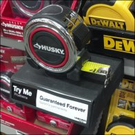 Measuring Tape Try Me Main as Retail Merchandising Store Fixture