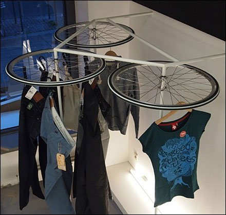 Bike Wheels as Lazy Susan2
