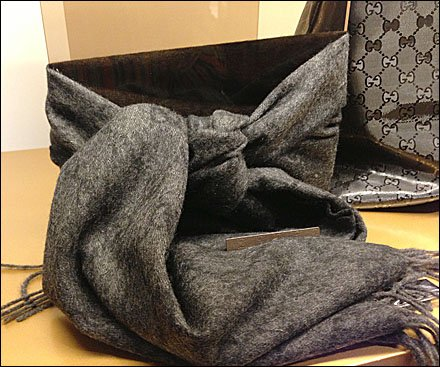 New Gucci Men's Horizontal Scarf Tie